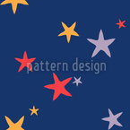 The Starfish Family Seamless Pattern