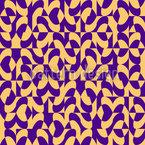 Eulatik Wellen Nahtloses Vektor Muster