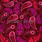 Lovely Paisley Seamless Vector Pattern Design