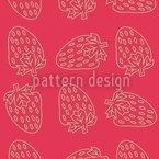 Erdbeer Style Nahtloses Vektormuster