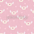 O Dear Love Letters Seamless Vector Pattern Design