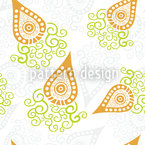 Swirly Carrots Repeat Pattern