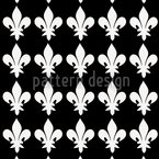 Fleur De Lys At Night Pattern Design