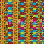 Ethnic Hand Signals Seamless Vector Pattern Design