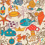 Party In The Yellow Submarine Repeat Pattern