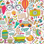 Funny Leisure Time Seamless Vector Pattern Design