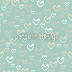 Gentle Hearts Seamless Vector Pattern
