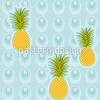 Ananas Im Whirlpool Nahtloses Vektormuster