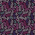 Leaves Bohemian At Night Pattern Design