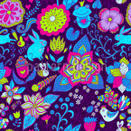 Magic World In Ultraviolet Seamless Vector Pattern Design