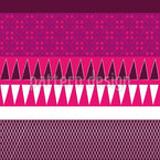 Ethno Patchwork Mix Estampado Vectorial Sin Costura
