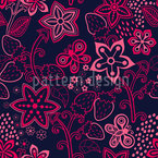 Bosque Berry Paraíso Estampado Vectorial Sin Costura