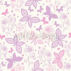 Butterfly Romance Seamless Vector Pattern Design