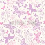 Schmetterling Romanze Nahtloses Vektormuster