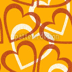 Love Love Love Allover Seamless Vector Pattern