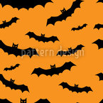 Bat Flight Seamless Vector Pattern Design