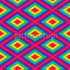 Rainbow Diamonds Repeating Pattern