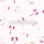 Palm Wedding On Dots Seamless Pattern