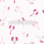 Palmen Hochzeit Auf Punkt Nahtloses Muster