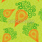 Filigree Baby Carrots Seamless Vector Pattern Design