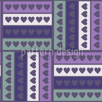 Heart On Stripe Seamless Vector Pattern Design