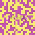 O Labirinto de Baunilha de Morango Design de padrão vetorial sem costura