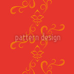 Oriental Spell Seamless Vector Pattern Design