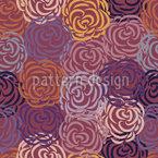 Herbstrosen Nahtloses Vektor Muster