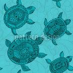 Polynesische Meeresschildkröten Nahtloses Vektormuster