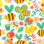 Busy Honey Bees Pattern Design