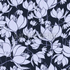 Crocus Night Seamless Pattern