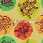 Turtles Of All Oceans Seamless Vector Pattern Design