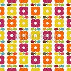 Viktoryias Retro Blumen Vektor Design