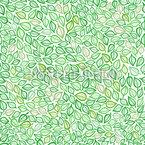 Bedeckt Mit Blättern Nahtloses Vektormuster