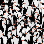 Die Reise Der Pinguine Nahtloses Vektormuster