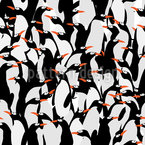 The March Of The Penguins Seamless Vector Pattern Design