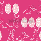 Easter Bunnies In Panic Repeat Pattern