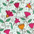 Florale Süsse Nahtloses Vektormuster