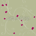 Cirri Of Bell Flowers Vector Pattern
