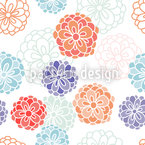 Zinnia Fantasy Seamless Vector Pattern Design
