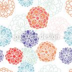 Zinnien Fantasie Muster Design