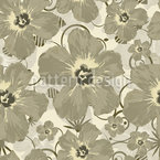 Hibiscus Bombay Seamless Vector Pattern Design