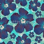 Hibiscus Hawaii Seamless Vector Pattern Design