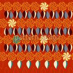 Florale Achterreihe Nahtloses Muster