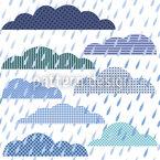 Regenwolken Patchwork Musterdesign