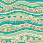 Waves In The Desert Sand Seamless Vector Pattern Design