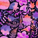 Natur In Wasserfarben Nahtloses Muster
