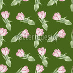 Tulip Romance Seamless Vector Pattern Design