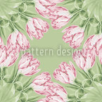 Tulip Garland Seamless Vector Pattern Design