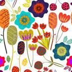 Magic Garden  Seamless Vector Pattern